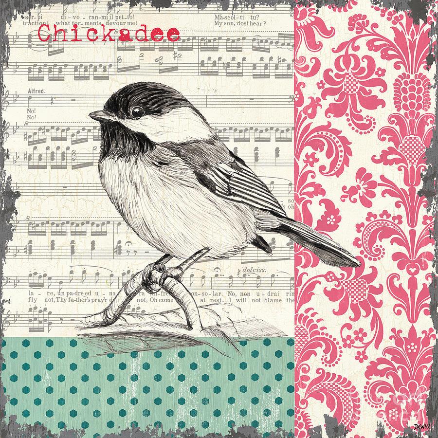 Bird Painting - Vintage Songbird 3 by Debbie DeWitt