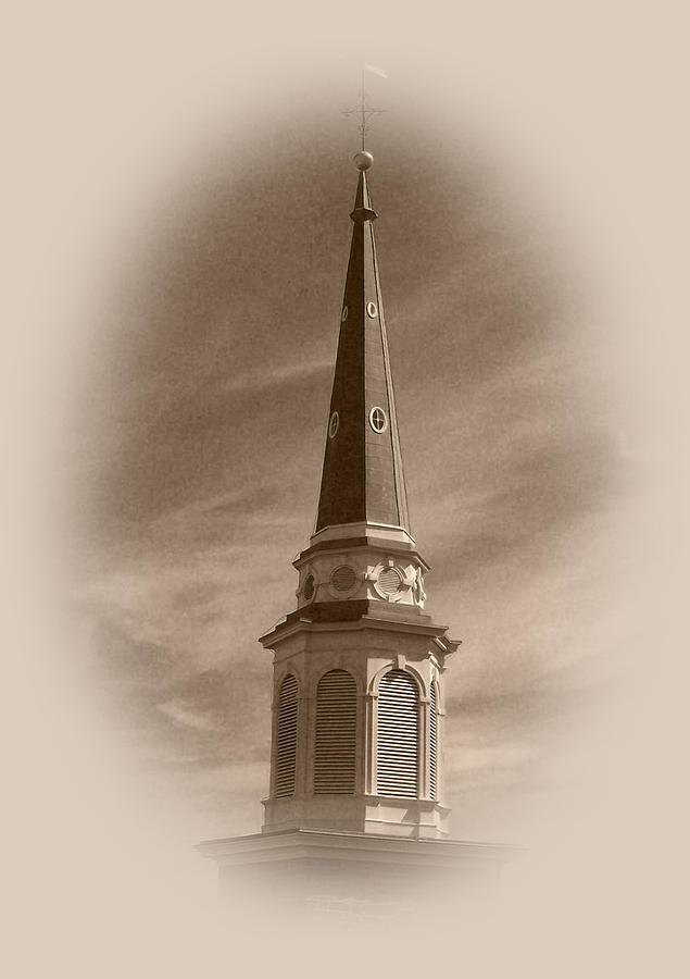 Church Photograph - Vintage Steeple by Pharris Art