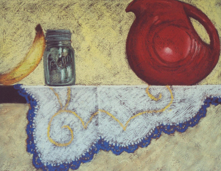 Ball Jar Painting - Vintage Still Life Series by Kelley Smith