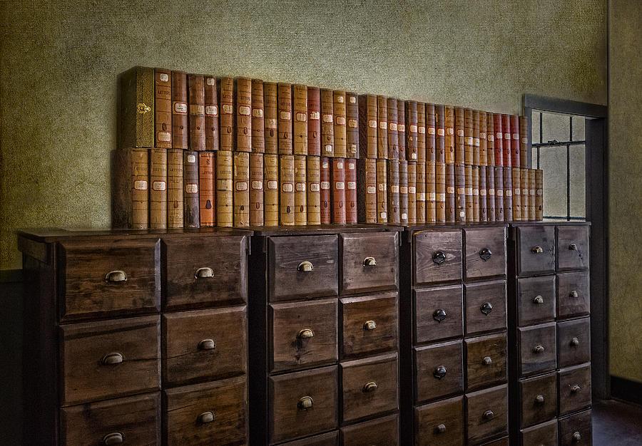 Aged Photograph - Vintage Storage by Susan Candelario