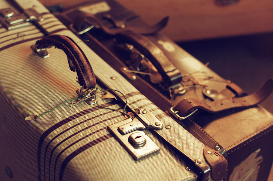 Vintage Suitcases Photograph by Jill Ferry Photography
