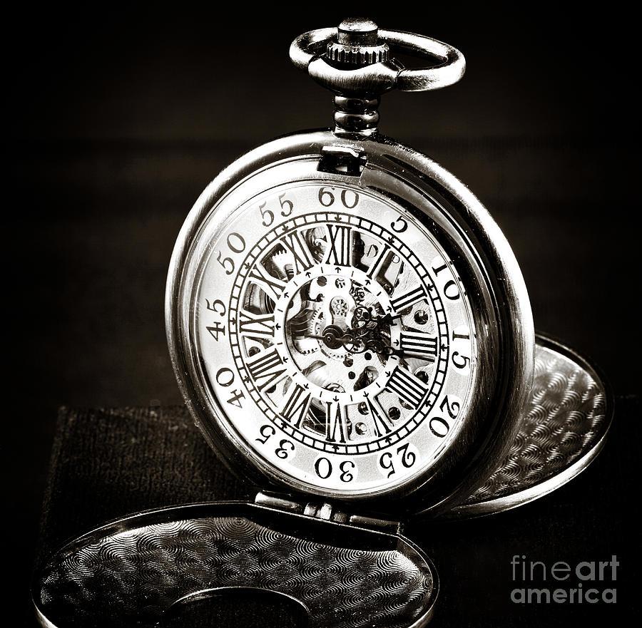 Pocket Watch Photograph - Vintage Time by John Rizzuto