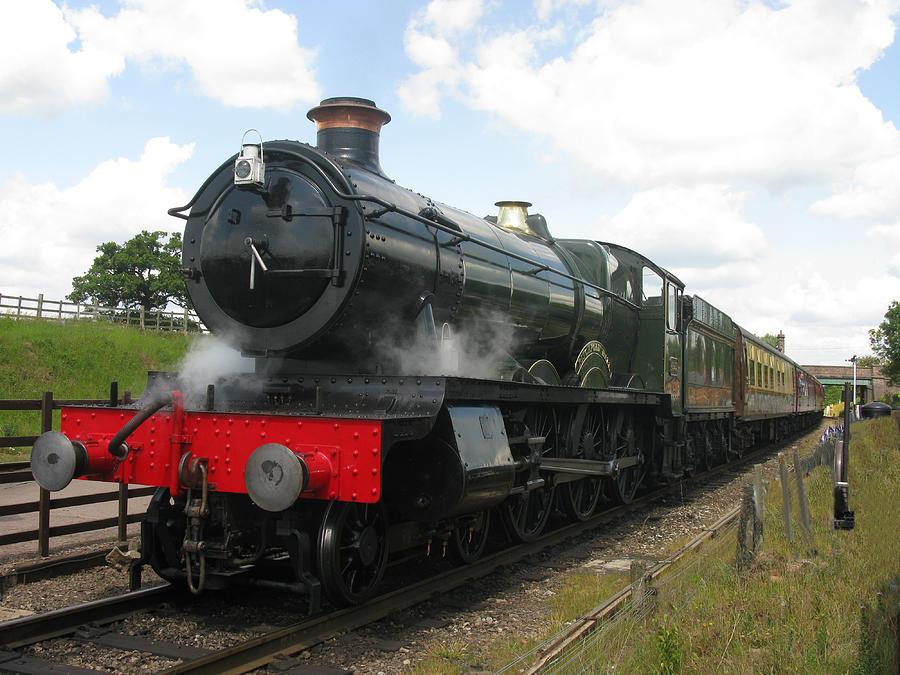 Railway Photograph - Vintage Train Black Steam Engine by Tom Conway