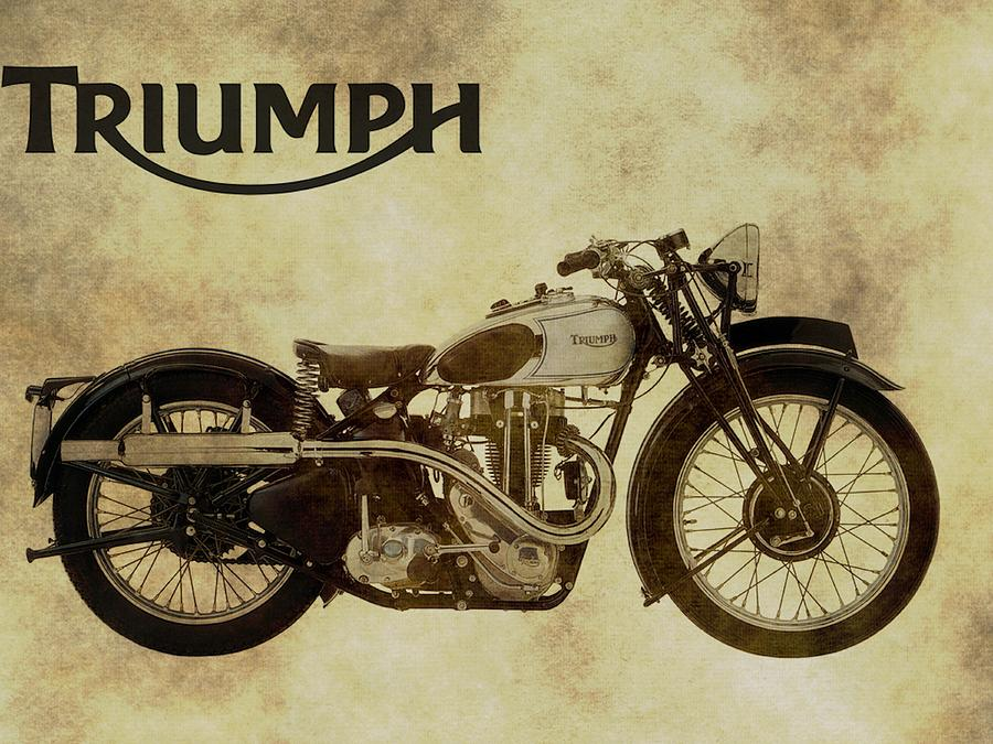 Vintage Triumph Motorcycles Photograph by Dan Sproul