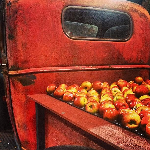 Antique Photograph - Vintage Truck Filled With Apples by Colleen Paige