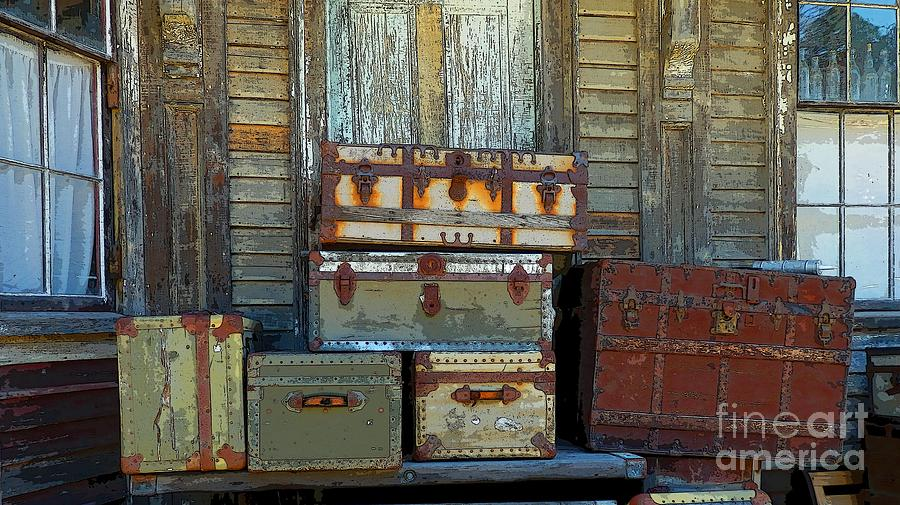 Still Life Photograph - Vintage Trunks   Sold by Marcia Lee Jones