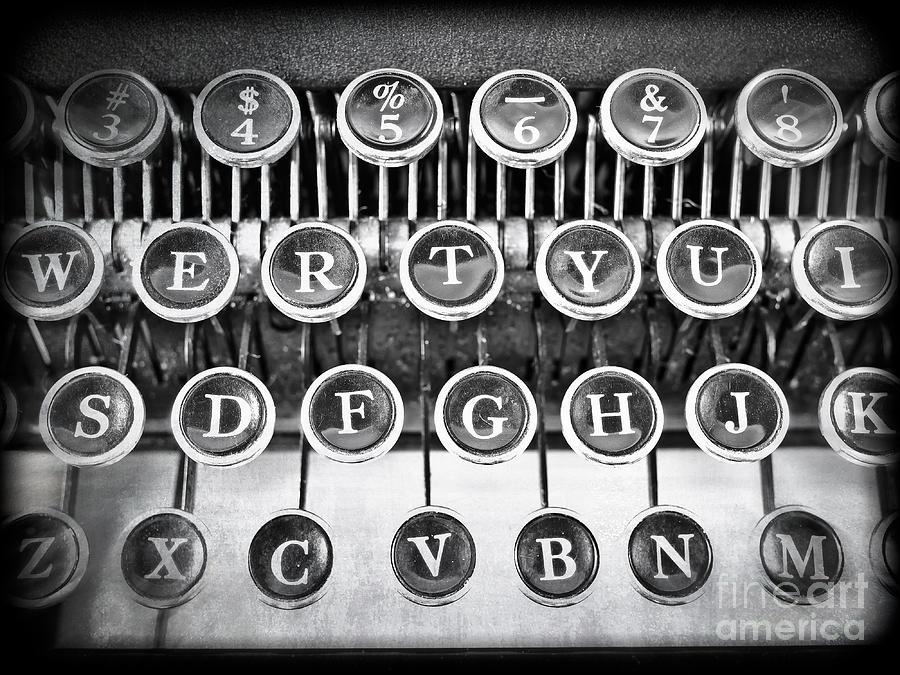 Word Photograph - Vintage Typewriter by Edward Fielding