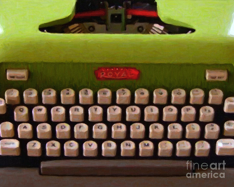 Typewriter Photograph - Vintage Typewriter - Painterly by Wingsdomain Art and Photography