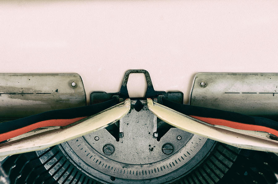 Vintage Typewriter with Paper Photograph by Nora Carol Photography