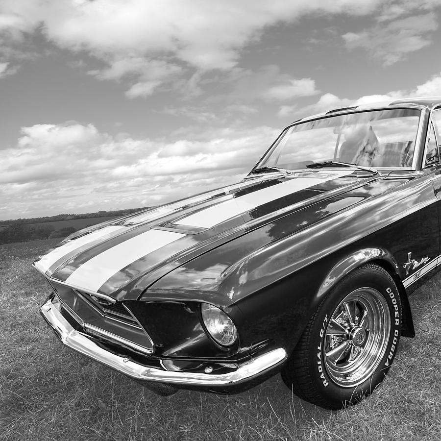 Black And White Ford: Vintage V8 In Black And White