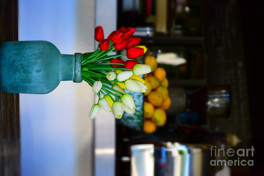 D7100 Digital Art - Vintage Vase And Rose by Bobby Mandal