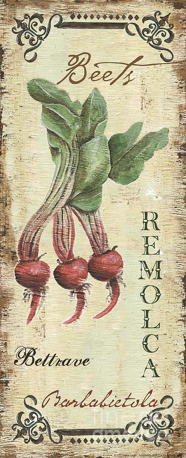 Kitchen Painting - Vintage Vegetables 3 by Debbie DeWitt