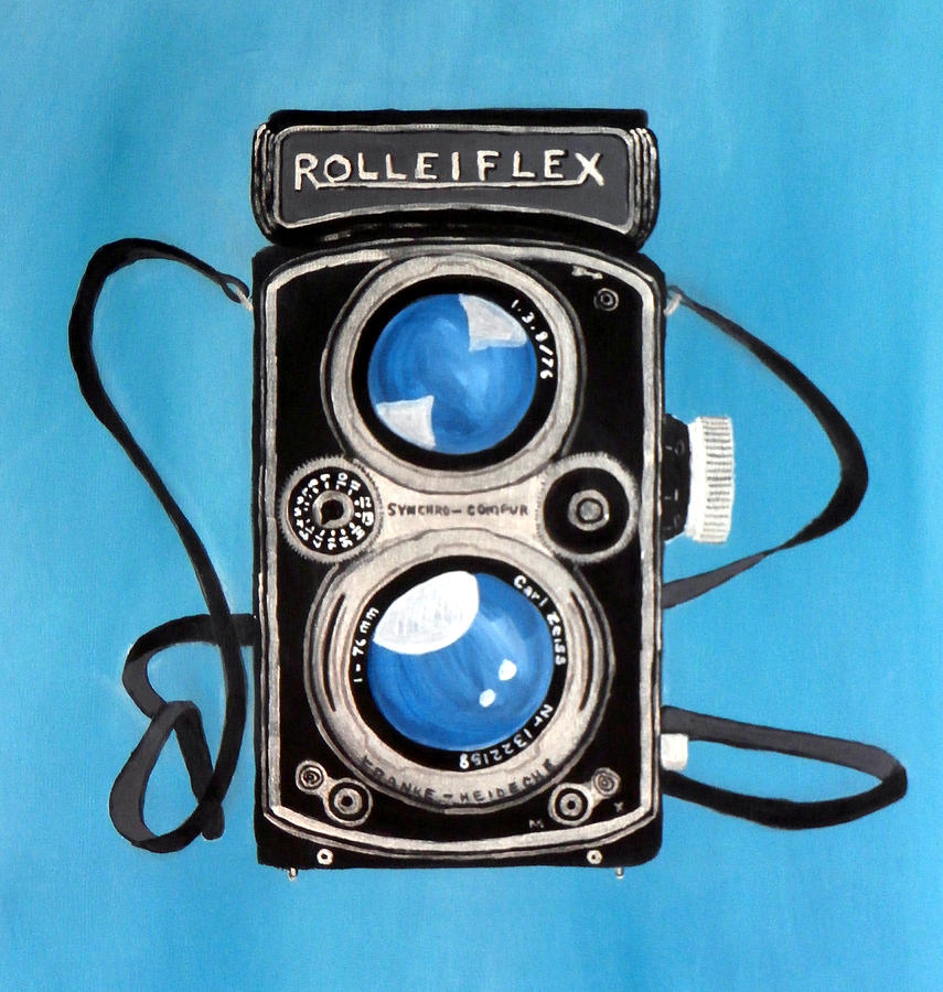 Camera Painting - Vintage View Camera by Karyn Robinson