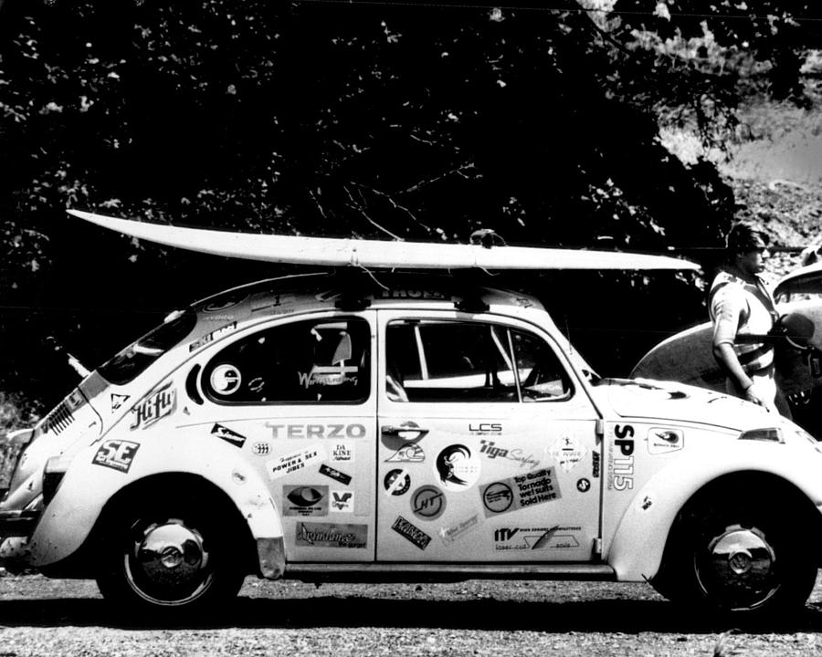 Vintage vw bug ready to surf photograph by retro images for Retro images