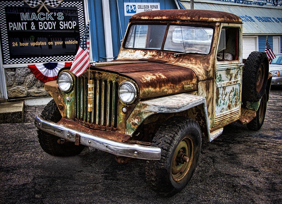 Vintage Willy S Jeep Pickup Truck Photograph By Kathy Clark