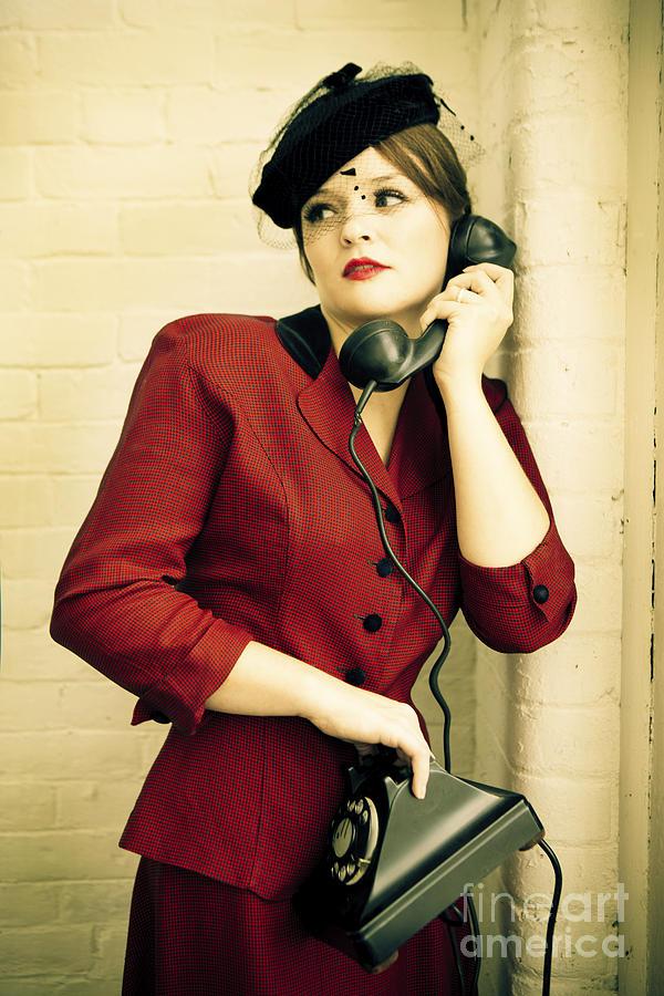 1940s Photograph - Vintage Woman by Diane Diederich