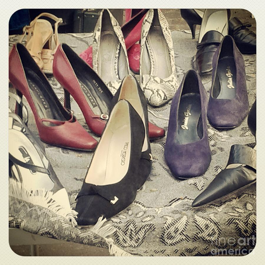Print Photograph - Vintage Women Shoes by Victoria Herrera