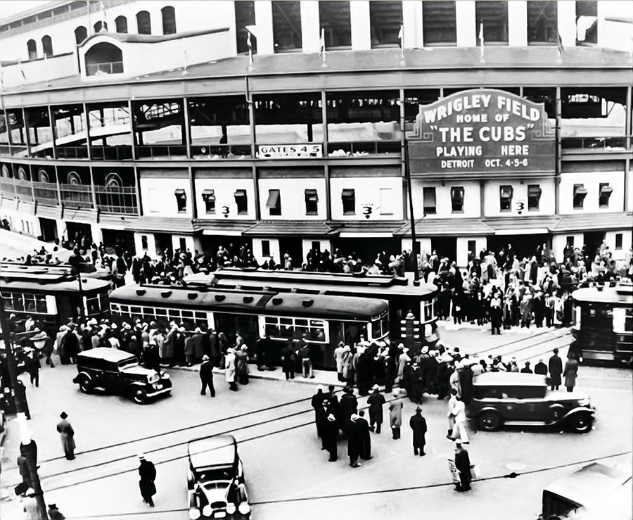 Vintage Wrigley Field Photograph By Bill Cannon