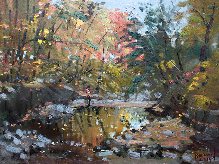 Creek Painting - Viola At The Creek by Ylli Haruni