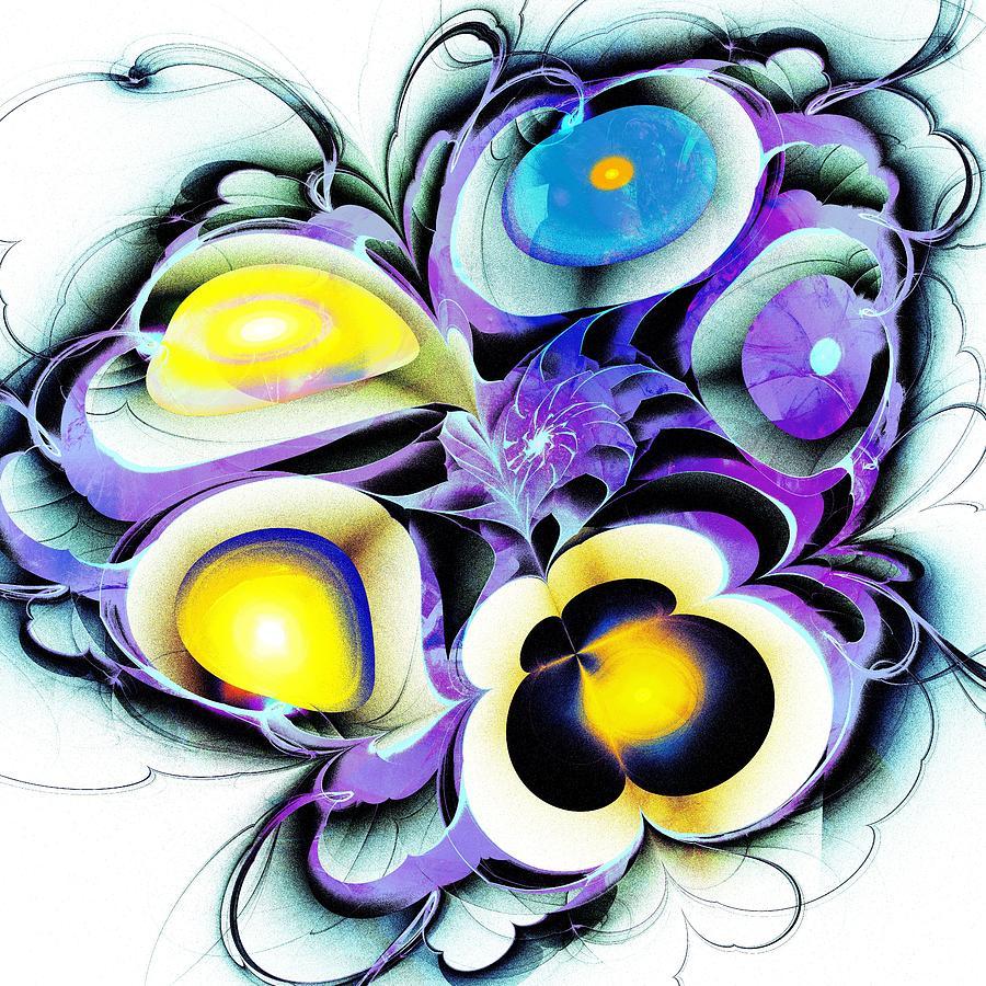 Computer Digital Art - Viola Tricolor by Anastasiya Malakhova