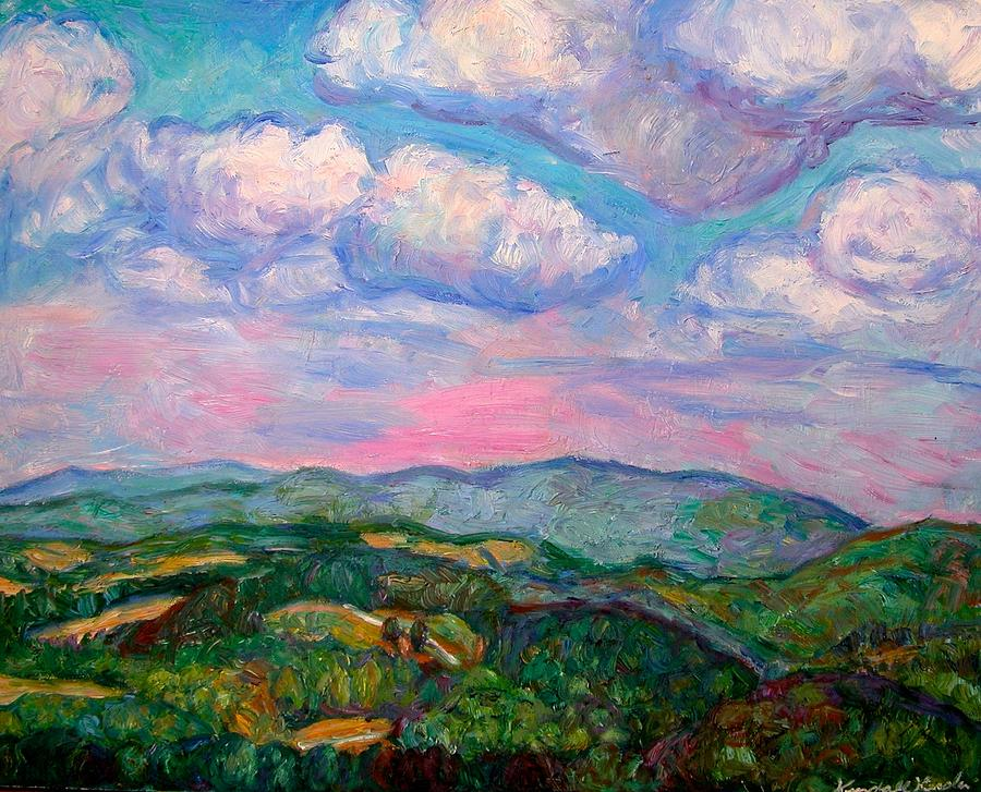 Mountains Painting - Violet Evening On Rocky Knob by Kendall Kessler