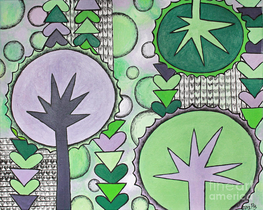 Violet Painting - Violet-green by Home Art