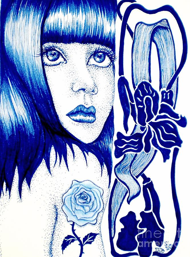 Violet Drawing by Lenora Brown