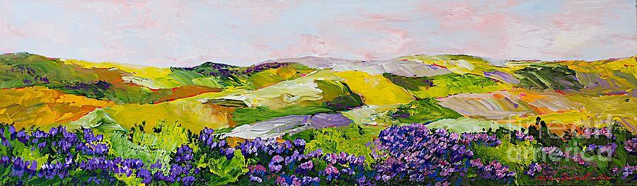 Landscape Painting - Violet Sunrise by Allan P Friedlander