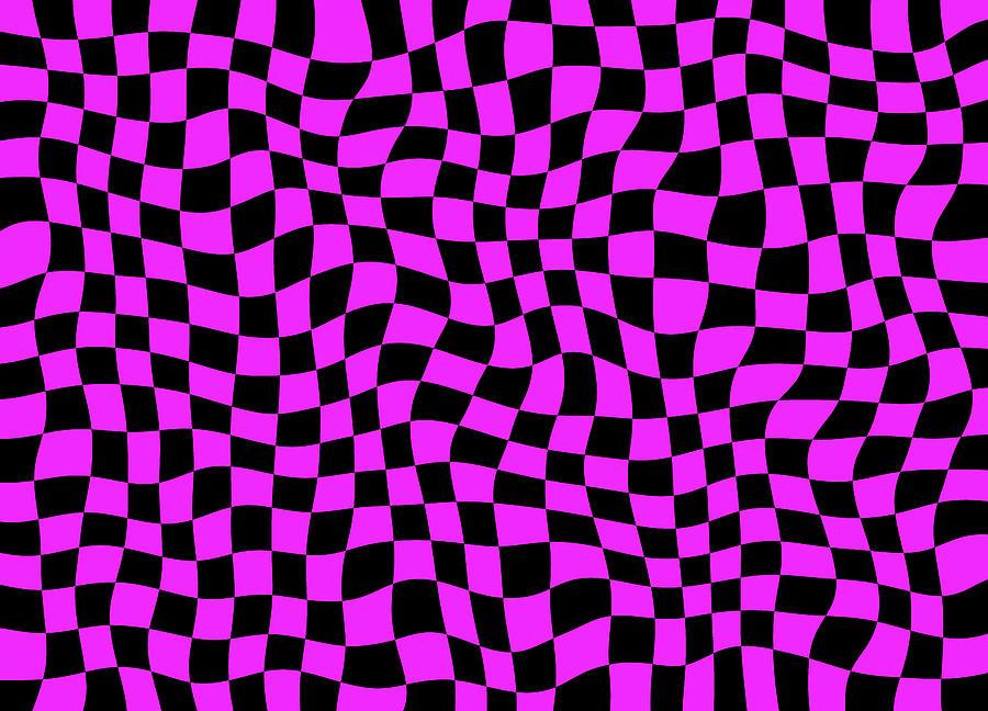 Violet Digital Art - Violet Warped Polygons by Daniel Hagerman