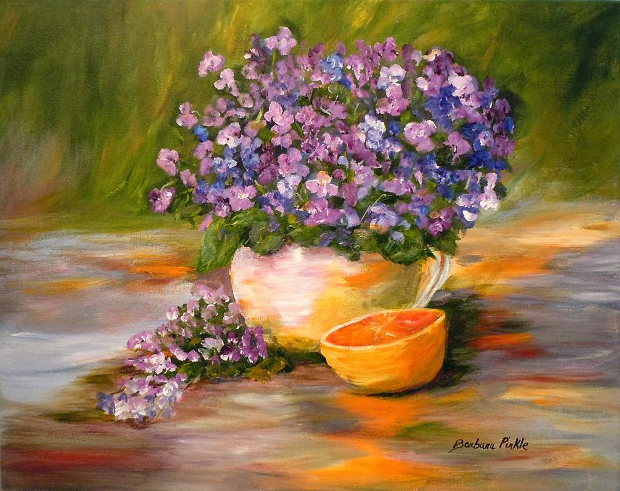 Spring Painting - Violets Are Blue by Barbara Pirkle