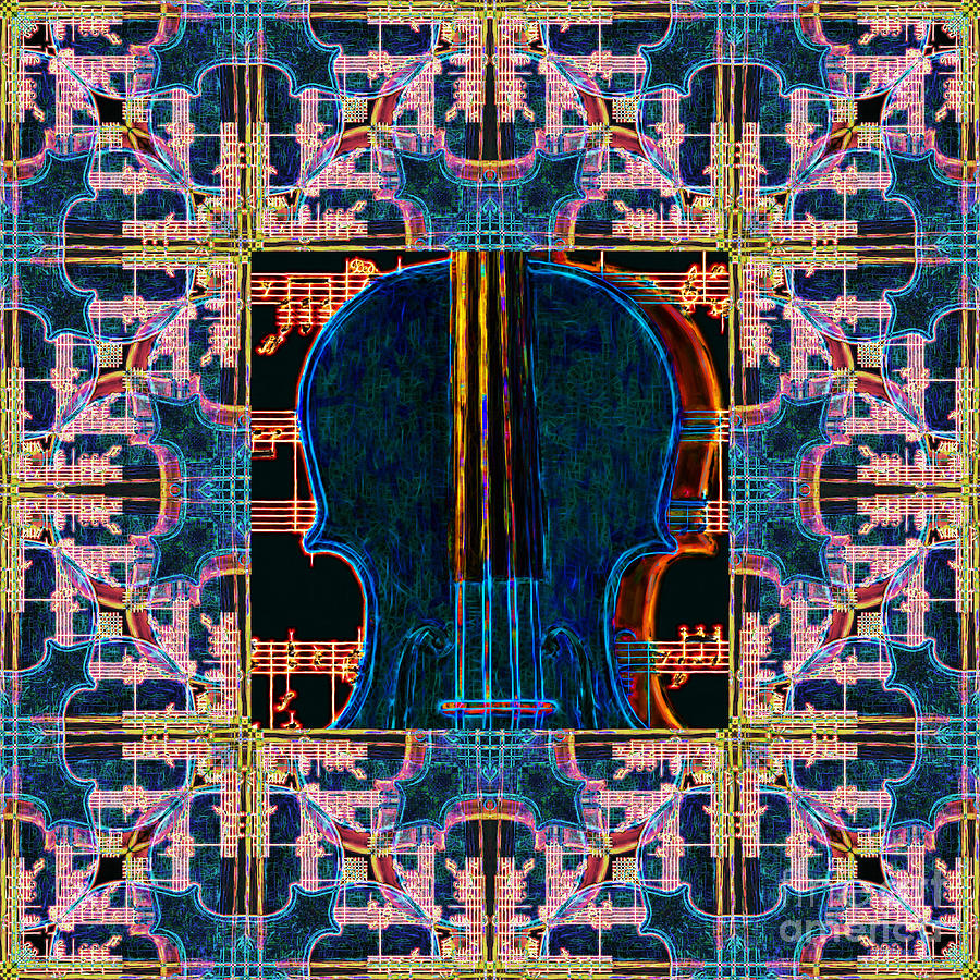 Music Photograph - Violin Abstract Window - 20130128v1 by Wingsdomain Art and Photography