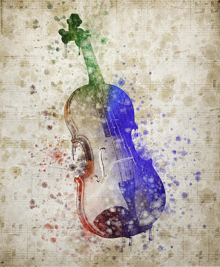 Violin Digital Art - Violin by Aged Pixel