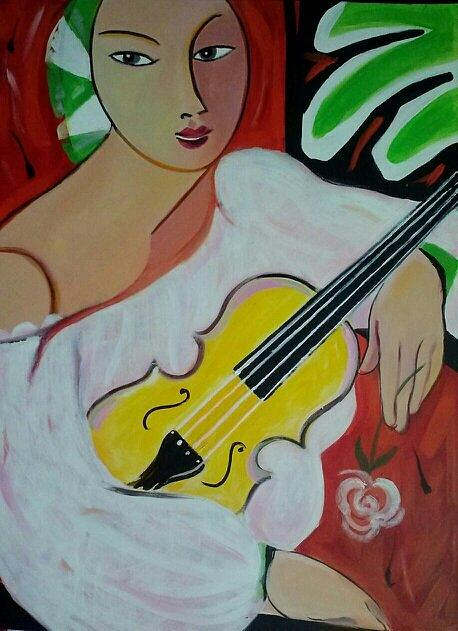 Figurative Painting - Violin At Rest by Marlene LAbbe