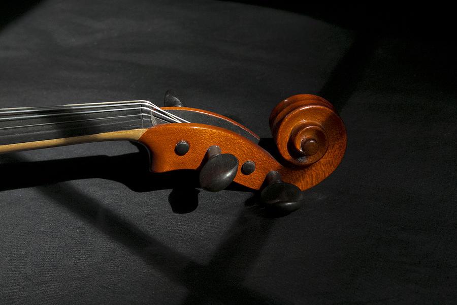 Violin Photograph - Violin In Shadow by Mark McKinney