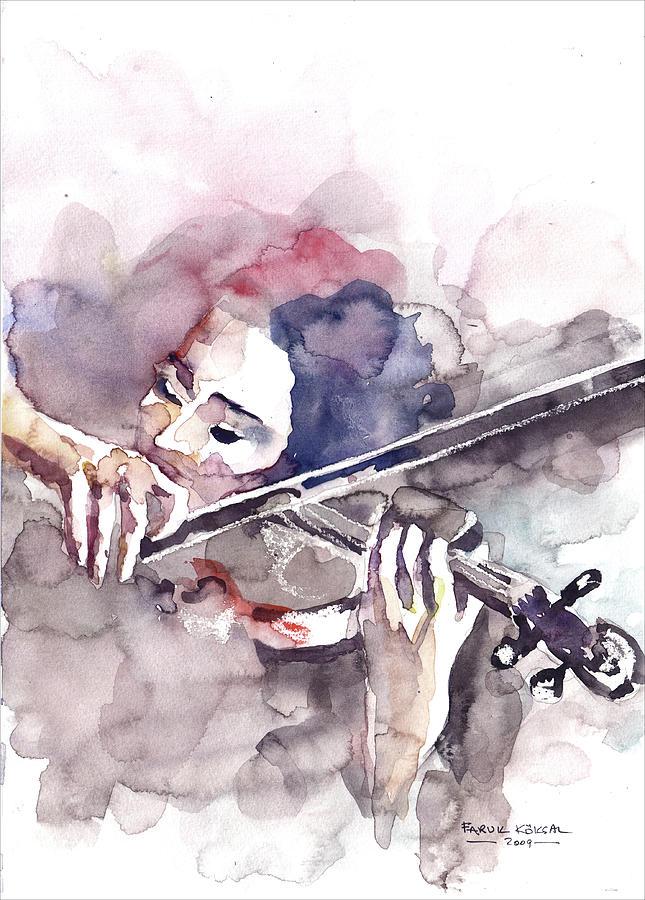 Violin Prelude Painting By Faruk Koksal