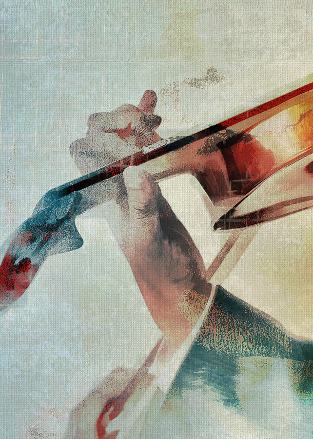 Violinist Digital Art - Violinist by David Ridley