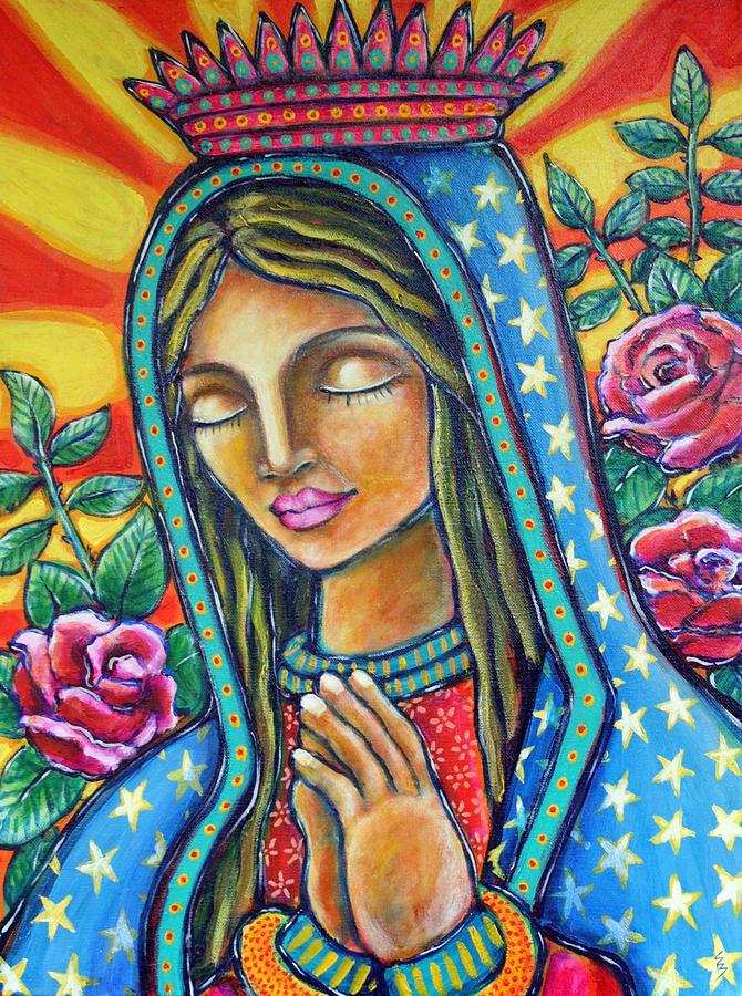 Virgen de guadalupe painting by shelley bredeson - Images of la virgen de guadalupe ...