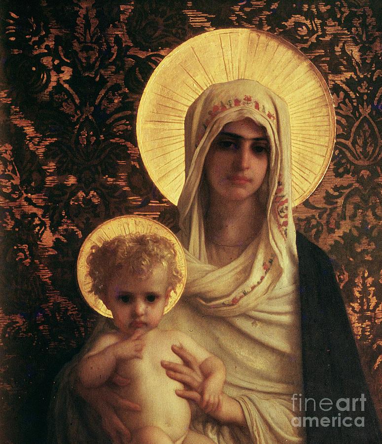 Herbert Painting - Virgin And Child by Antoine Auguste Ernest Herbert