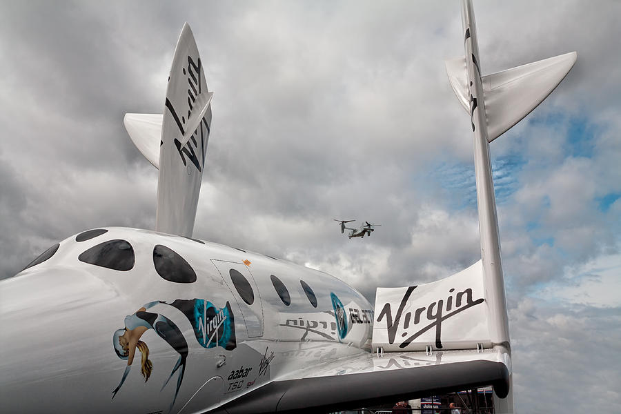 Branson Photograph - Virgin Galactic Vss Enterprise With Osprey by Shirley Mitchell