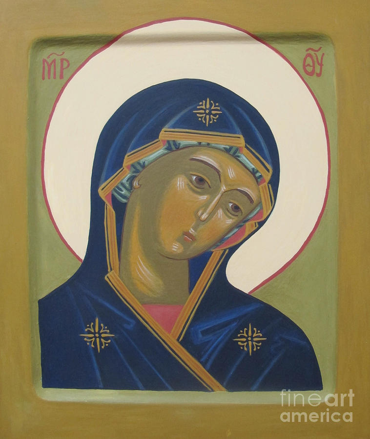 Icon Painting - Virgin Mary Icon by Seija Talolahti