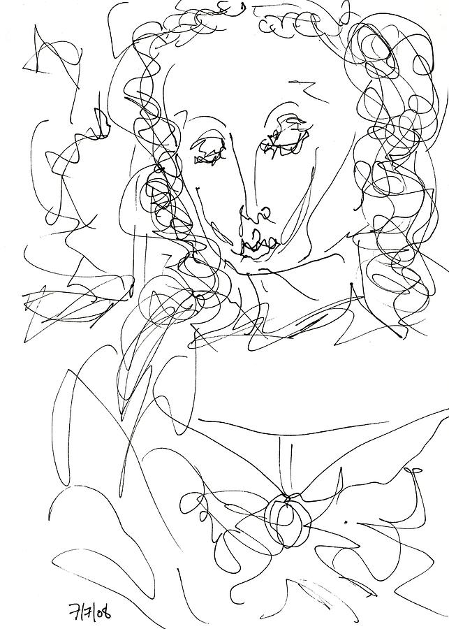 Mary Drawing - Virgin Mary by Rachel Scott