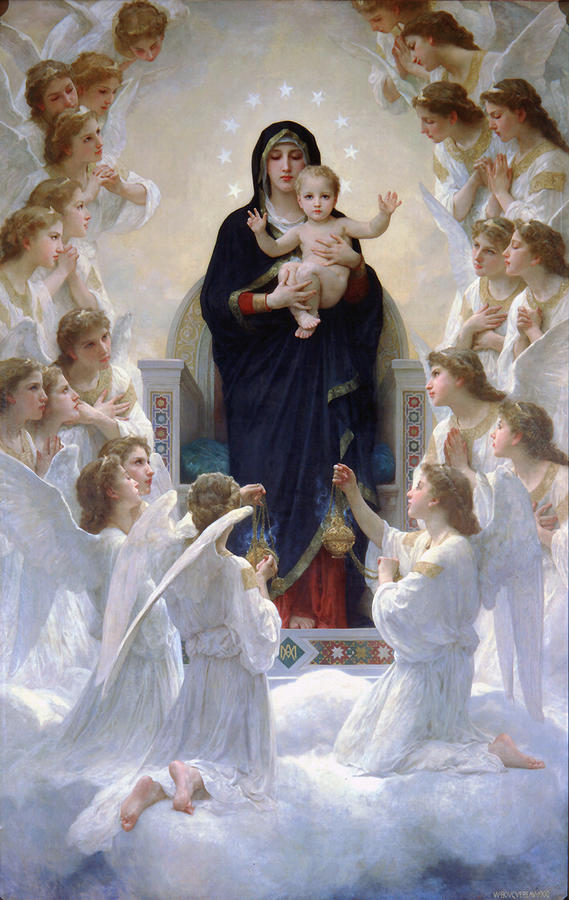 Virgin Mary With Angels by Bouguereau