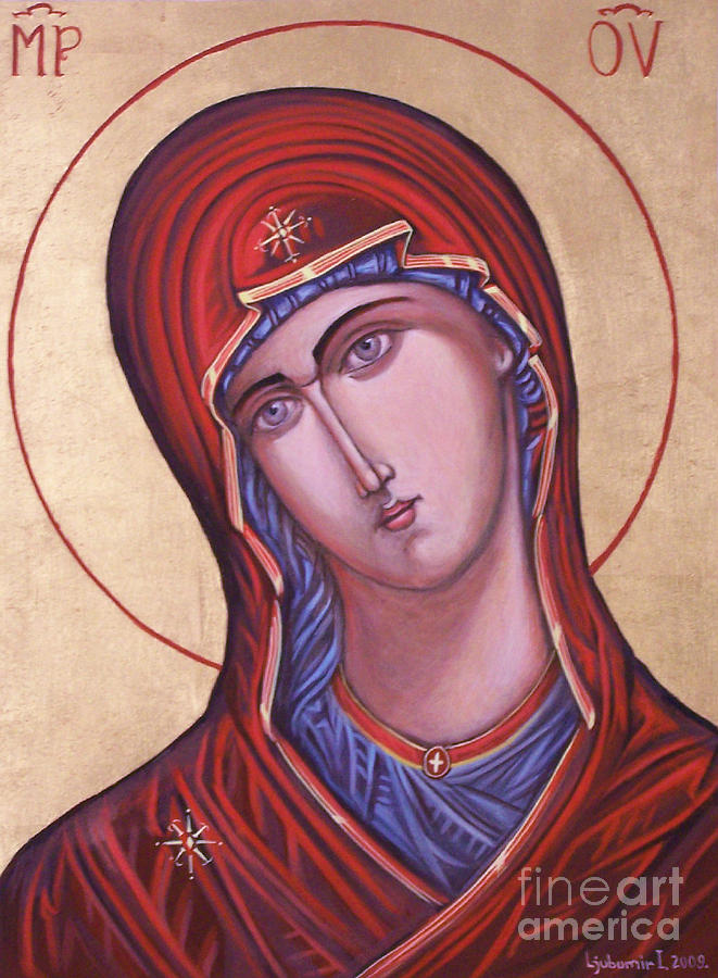 Icon Painting - Virgin Mother Mary by Ljubomir Ilic