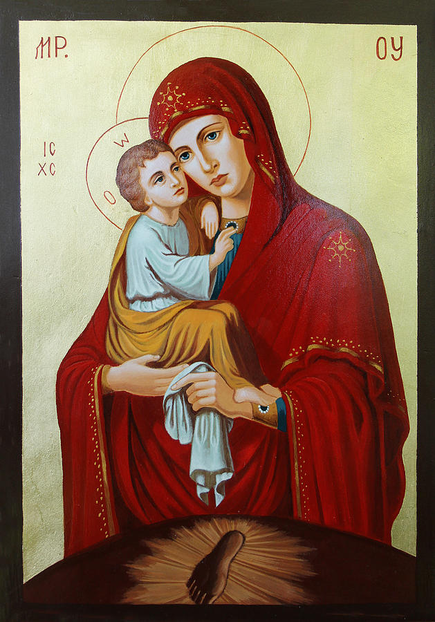 Virgin Mary Painting - Virgin Of Pachev by Janeta Todorova