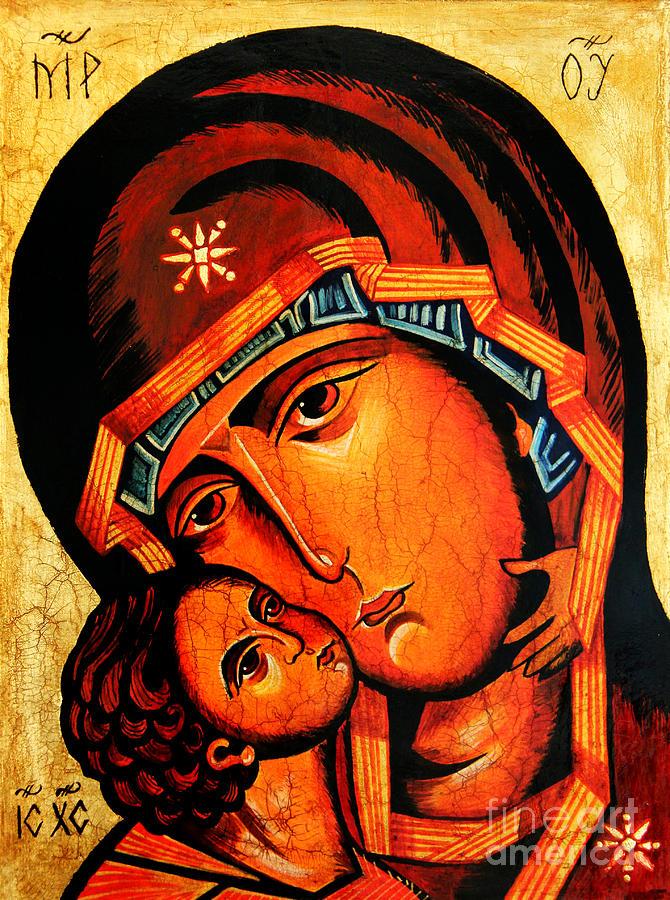 Virgin Of Tenderness Painting