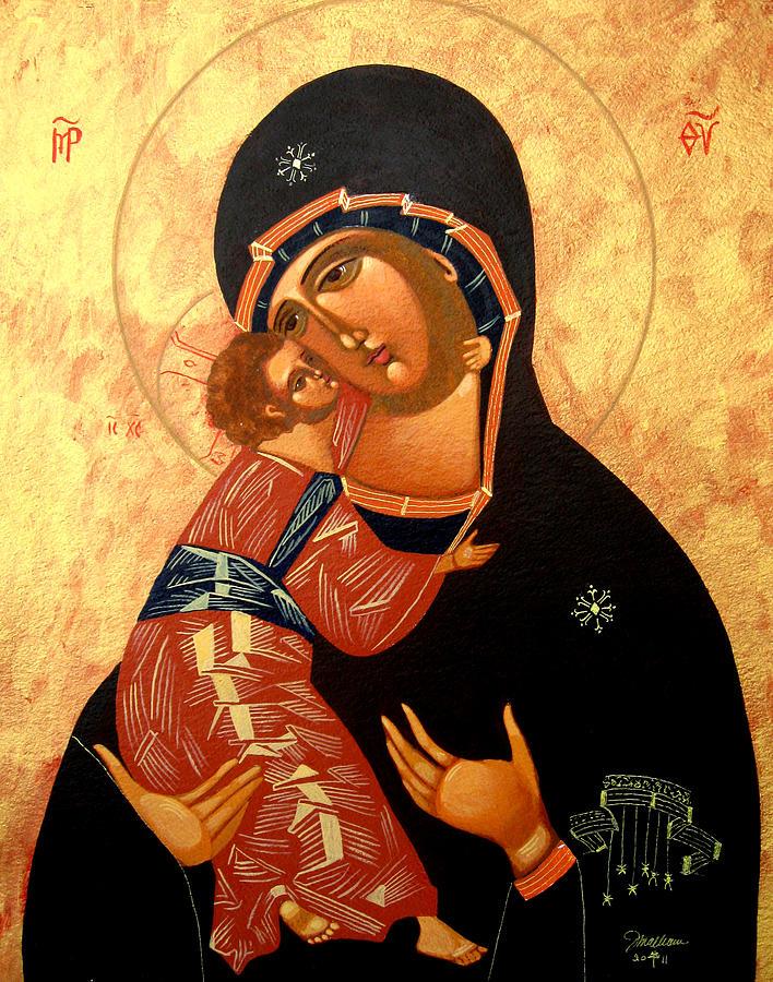 Virgin Of Vladimir Painting - Virgin Of Vladimir by Joseph Malham