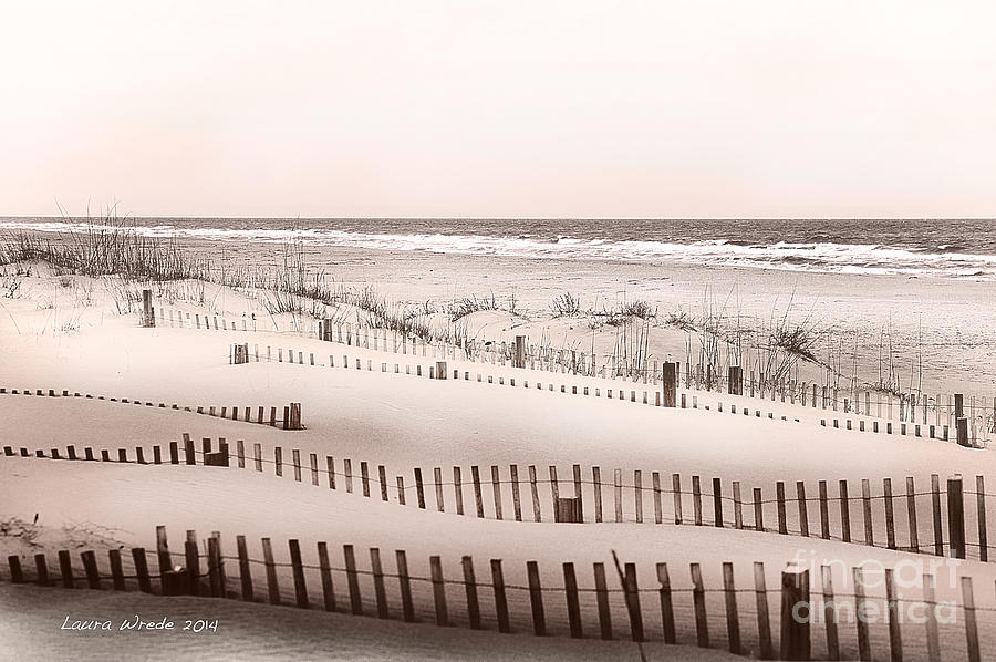 Honeymoon Photograph - Virgina Beach Vacation Memories by Artist and Photographer Laura Wrede