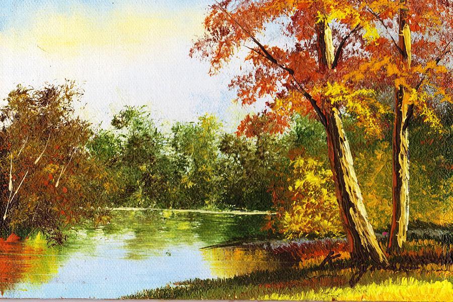 Virginia Painting - Virginia Autumn By Mr. Kelly by Anne-Elizabeth Whiteway