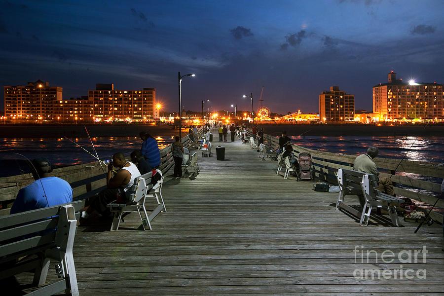 Virginia beach fishing pier photograph by bill cobb for Va beach fishing