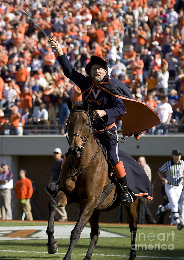 Virginia Cavaliers Mascot At Football Game Photograph By